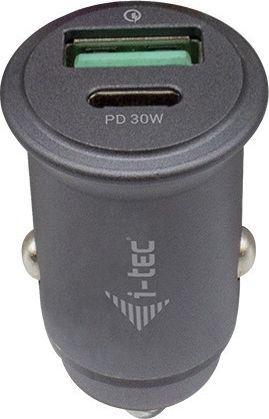 Ładowarka I-TEC Ładowarka samochodowa USB - Car Charger 1x USB-C PD 30 W 1x USB QC 3.0-CHARGER-CARQCPD 1