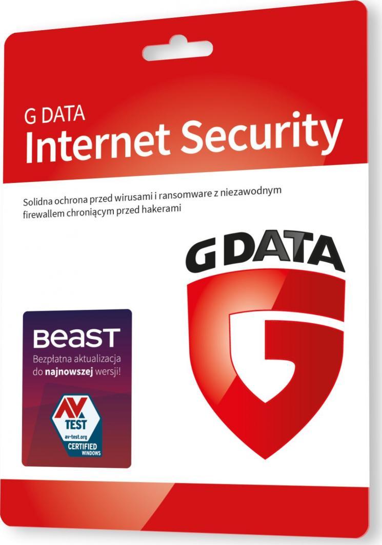Gdata Internet Security 3 urządzenia 36 miesięcy  (G82267) 1