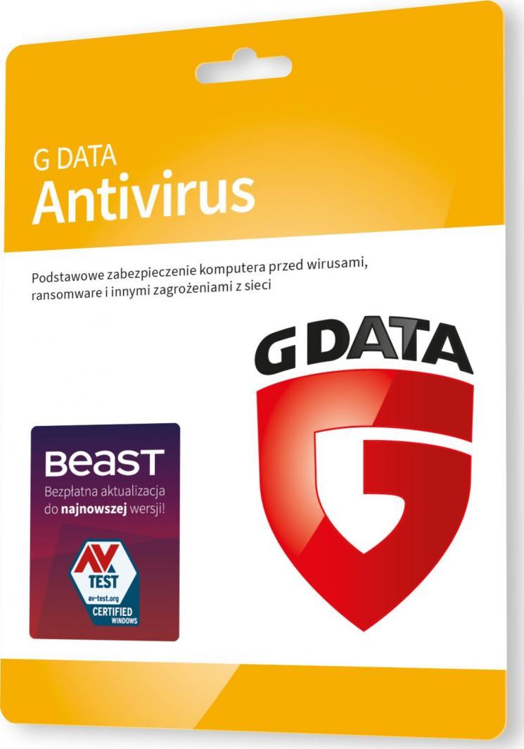 Gdata AntiVirus 1 urządzenie 12 miesięcy  (G82028) 1