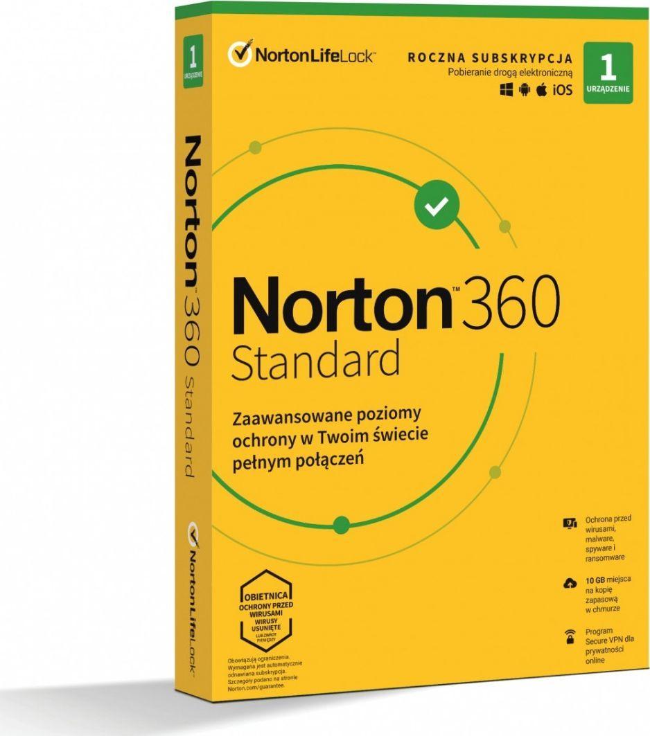 NORTON 360 Standard 1 urządzenie 12 miesięcy  (21408666) 1