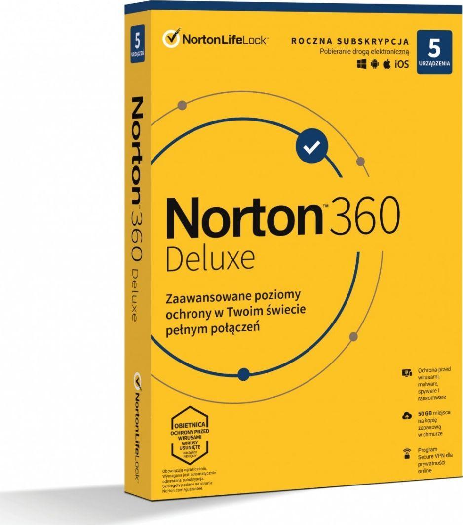 NORTON 360 DELUXE 50GB PL 1U 5Dvc 1Y (21408667) 1