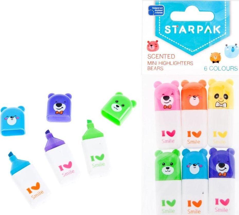 Starpak Zakreślacz zapachowy mini 6kolorów STARPAK 1