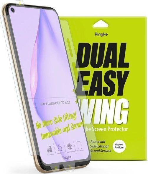 Ringke 2x Folia hydrożelowa Ringke Dual easy film do Huawei P40 Lite uniwersalny 1