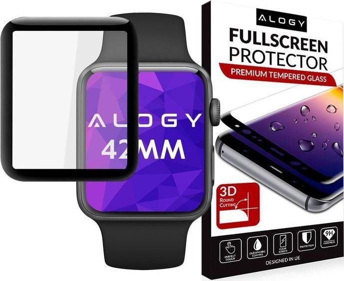 Alogy Szkło hartowane 3D Apple Watch 42mm czarny 1