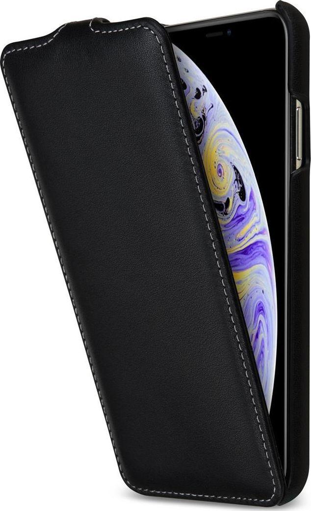 Stilgut STILGUT Baroon Slim Flip Elegance skórzane etui do iPhone XS Max czarne 1