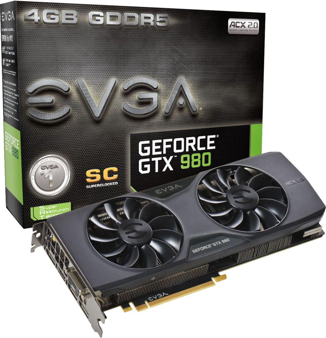 Karta graficzna EVGA GeForce GTX 980 Superclocked ACX 2.0 4GB GDDR5 (256 bit), DVI, HDMI, 3x DP (04G-P4-2983-KR) 1