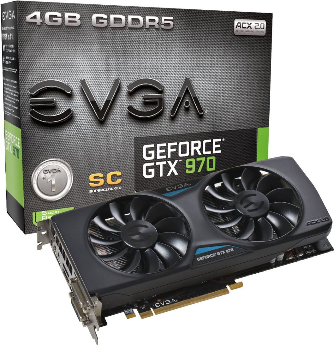 Karta graficzna EVGA GeForce GTX 970 Superclocked ACX 2.0 4GB (256 bit) 2x DVI, HDMI, DP (04G-P4-2974-KR) 1