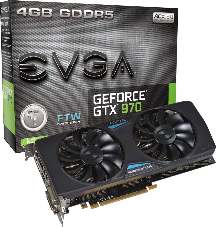 Karta graficzna EVGA GeForce GTX 970 FTW ACX 2.0 4GB GDDR5 (256 bit) 2x DVI, HDMI, DP (04G-P4-2978-KR) 1