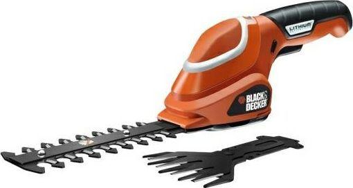 Black&Decker Nożyce do żywopłotu i trawy 7V+GSL700KIT-QW 1