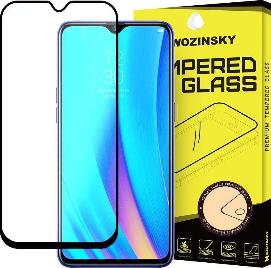 Wozinsky Wozinsky super wytrzymałe szkło hartowane Full Glue na cały ekran z ramką Case Friendly Realme 3 Pro czarny uniwersalny 1