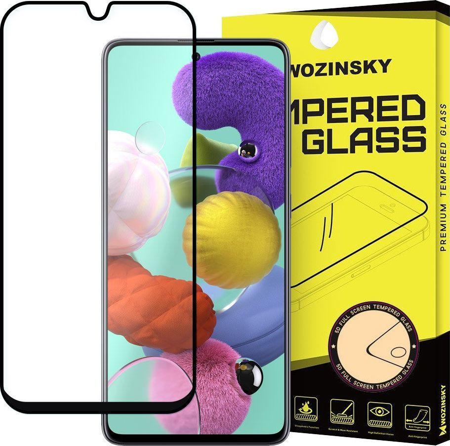Wozinsky Wozinsky super wytrzymałe szkło hartowane Full Glue na cały ekran z ramką Case Friendly Samsung Galaxy A71 / Galaxy Note 10 Lite czarny uniwersalny 1