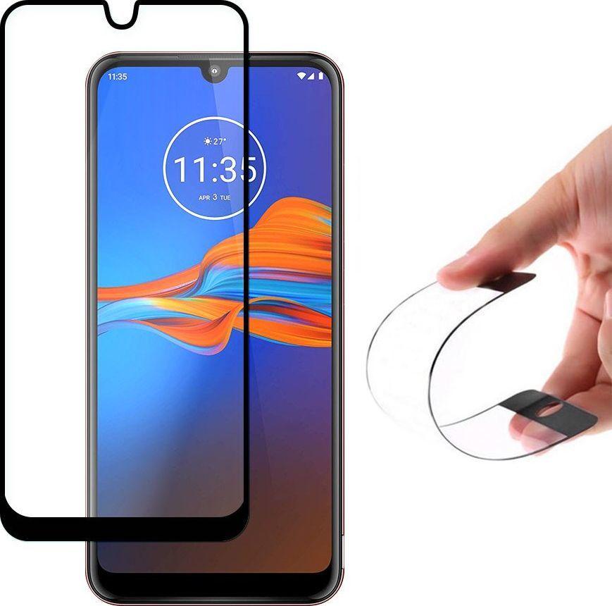 Wozinsky Wozinsky Full Cover Flexi Nano folia szklana szkło hartowane z ramką Motorola Moto E6 Plus czarny uniwersalny 1