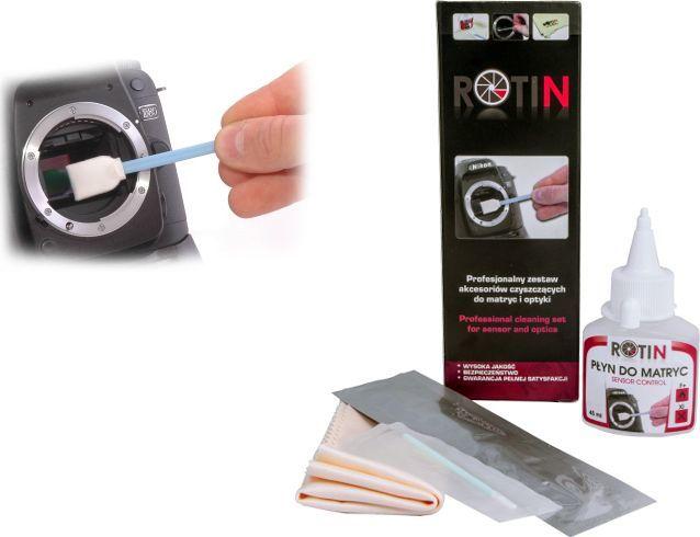 Rotin Zestaw czyszczący D płyn + ściereczka + szpatułki do matrycy aparatów 1