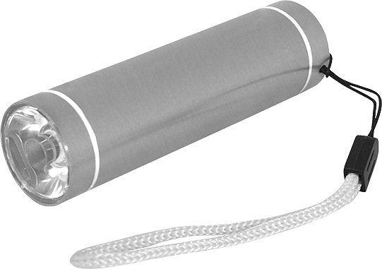Latarka LTC Latarka ręczna LTC LL38 1W, aluminiowa, SREBRNA. 1
