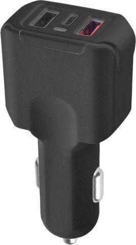 Ładowarka LTC PS Ładowarka samochodowa LTC Quick Charger 3.0 3A + Type-C 3A + USB 2,1A. 1