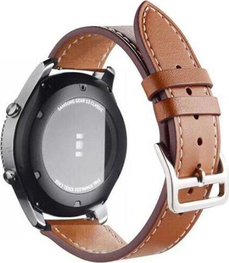 Pasek skórzany do Samsung Gear S3 Frontier - Brown uniwersalny 1