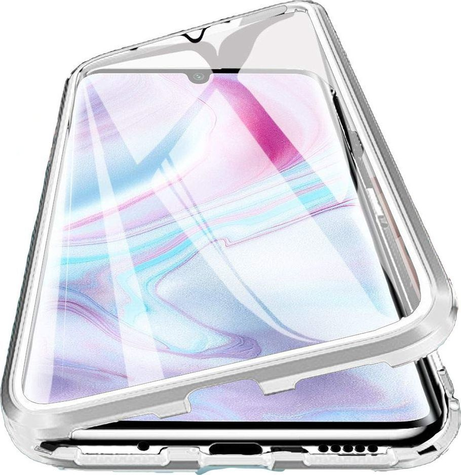 Magnetic Etui Magnetyczne Front+Back Mi Note 10 - Silver uniwersalny 1