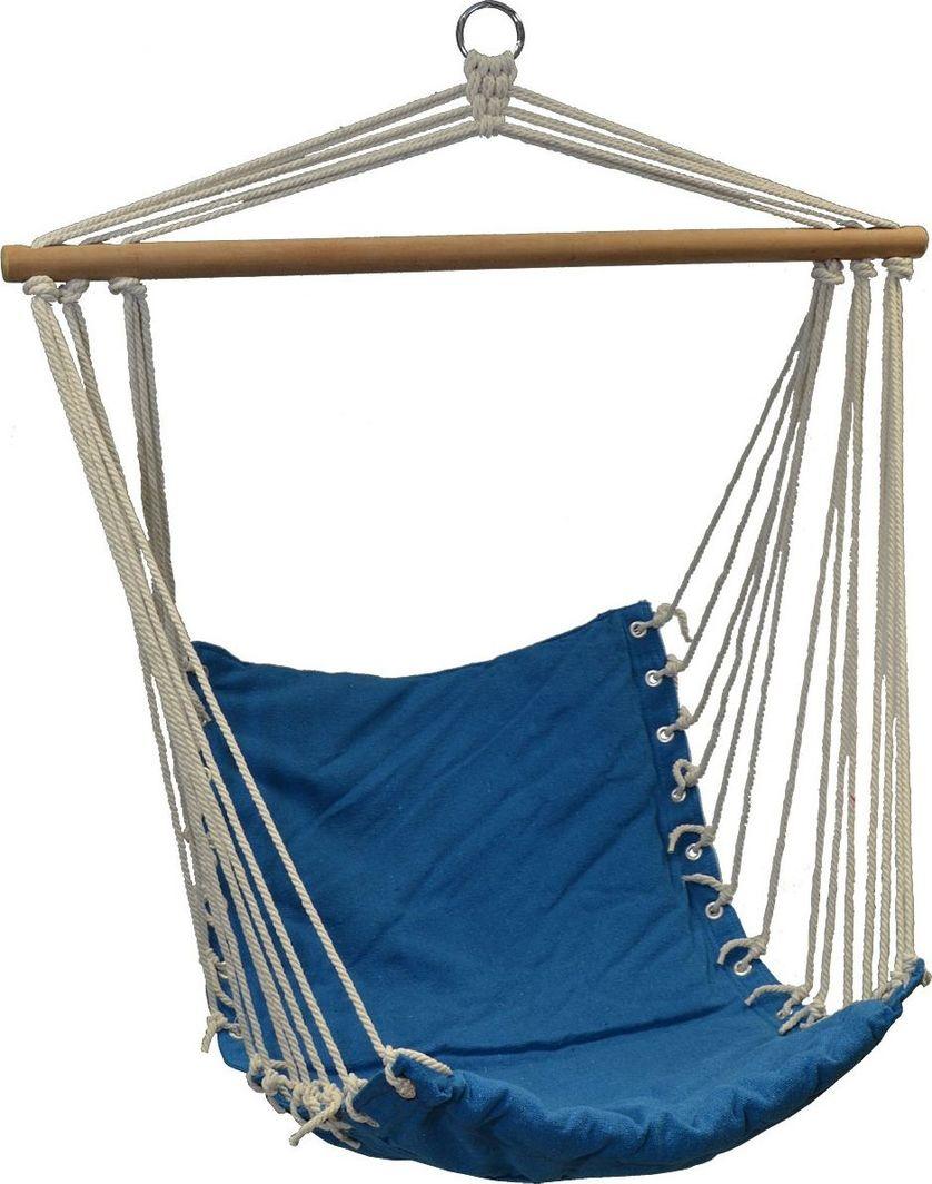 Royokamp  Hamak fotel brazylijski Natura 100x50cm z wszytą poduszką niebieski 1