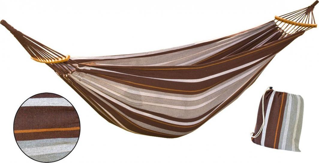 Royokamp  Hamak ogrodowy 2 osobowy Luxe XXL 250x150cm brązowy 1