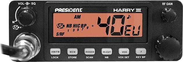CB Radio President Radio CB PRESIDENT HARRY III ASC AM/FM 12/24V NEW. 1