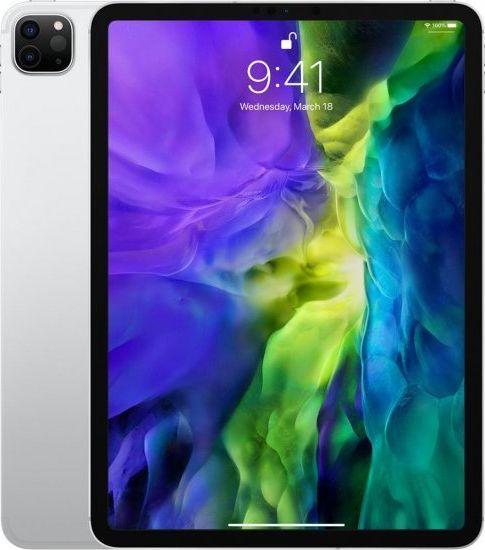 "Tablet Apple iPad Pro 2020 + Cellular 11"" 128 GB 4G LTE Srebrny  (MY2W2FD/A) 1"