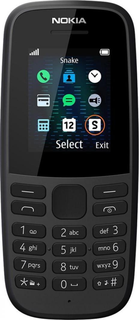 Telefon komórkowy Nokia 105 Dual SIM 2019 Czarny 1