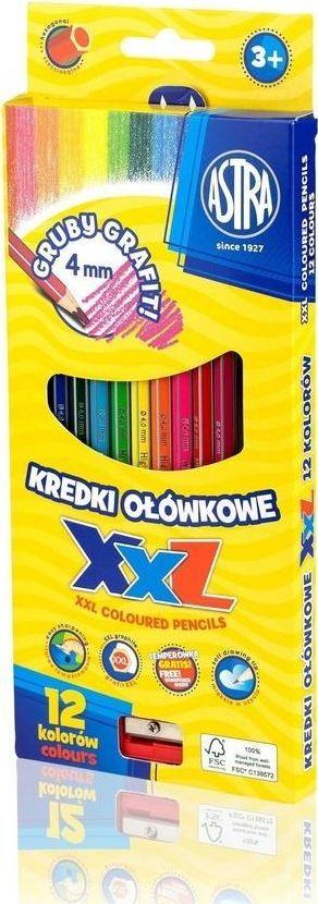 Astra Kredki ołówkowe hexagonalne 12 kolorów Astra 1