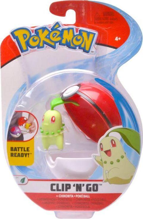 Pokemon ClipNGo Poke Ball - Chikorita and Poke Ball 1