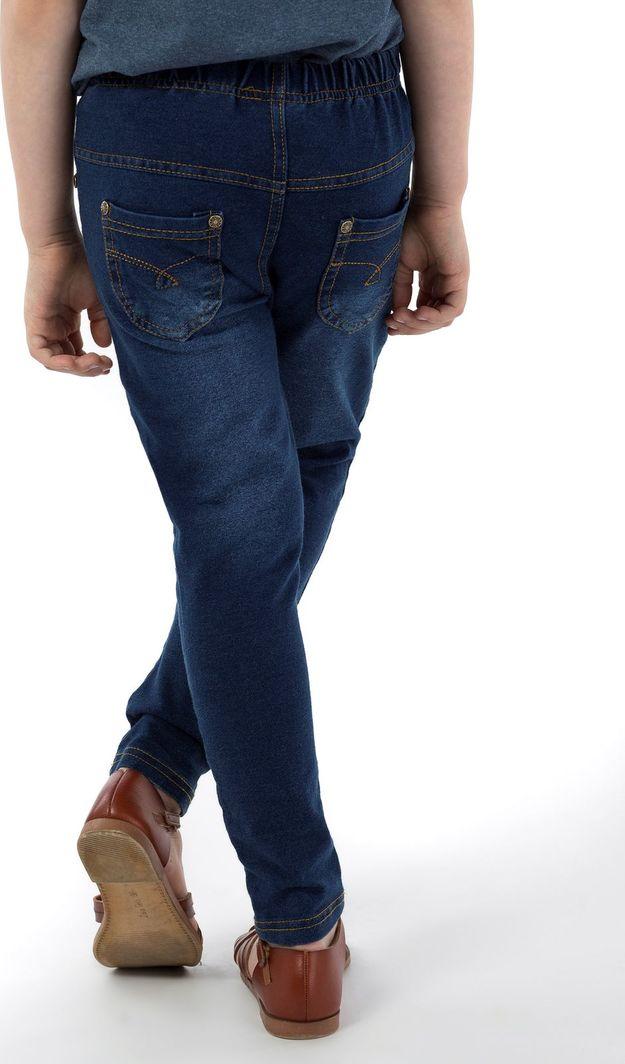 TXM TXM Spodnie dziewczęce proste, gładkie 134 NIEBIESKI 1
