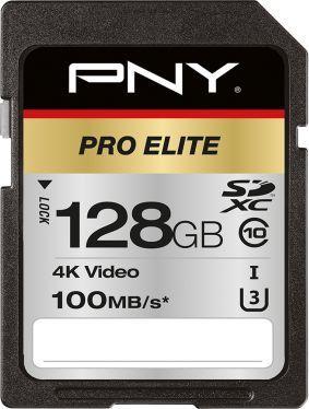 Karta PNY Pro Elite SDXC 128 GB Class 10 UHS-I/U3  (P-SD128U3100PRO-GE) 1