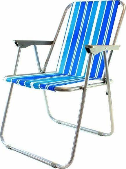 Home Appliances Składane krzesło plażowe niebieskie paski (AG294A) 1