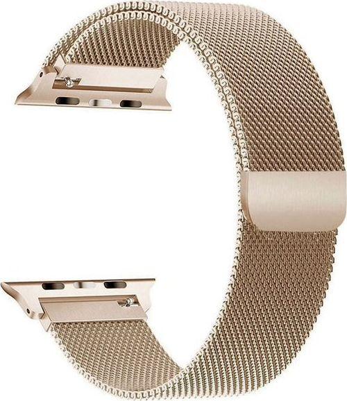 Alogy Bransoleta Milanese pasek Alogy do Apple Watch 1/2/3/4/5 38/40mm złota uniwersalny 1