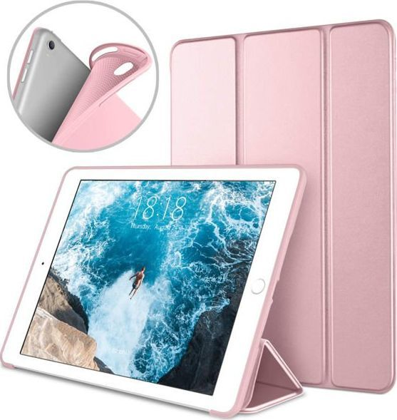 Etui do tabletu Alogy Etui Alogy Smart Case gel do Apple iPad Air 3 2019/ Pro 10.5 Różowe +Szkło uniwersalny 1
