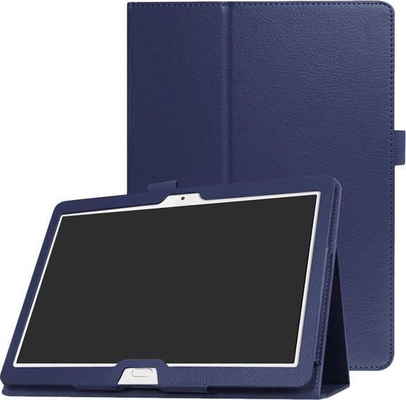 Etui do tabletu 4kom.pl Etui Stojak Huawei Mediapad M3 Lite 10 Granatowe + Szkło uniwersalny 1