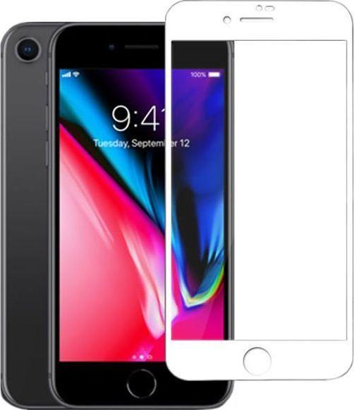 Mocolo Szkło Mocolo 3D na cały ekran Apple iPhone 8/SE 2020 białe uniwersalny 1