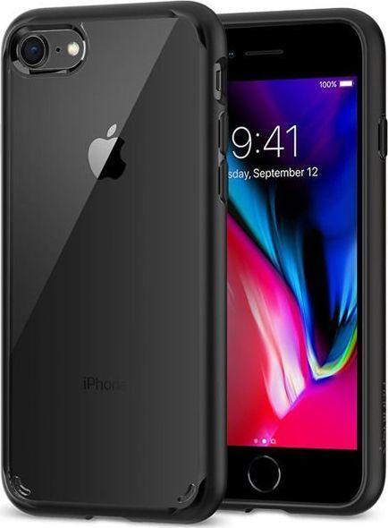 Spigen Etui Spigen Ultra Hybrid 2 Apple iPhone 7/8/SE 2020 Black + Szkło Alogy uniwersalny 1
