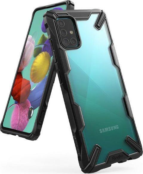 Ringke Etui Ringke Fusion X do Samsung Galaxy A51 Black + 2x Folia Ringke uniwersalny 1