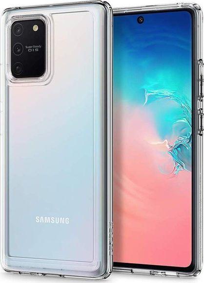 Spigen Etui Spigen Ultra Hybrid do Samsung Galaxy S10 Lite Clear + Szkło 3mk uniwersalny 1