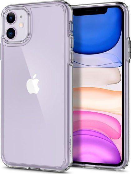 Spigen Etui Spigen Ultra Hybrid do Apple iPhone 11 Crystal Clear + Szkło Glas.tR uniwersalny 1