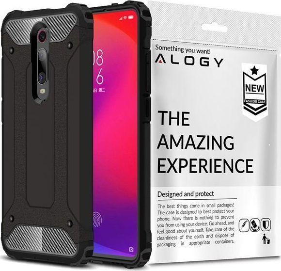 Alogy Etui Pancerne Alogy Hard Armor do Xiaomi Mi 9T/ Redmi K20/ Pro Czarne + Szkło Alogy uniwersalny 1