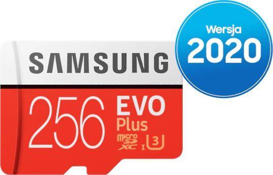 Karta Samsung Evo Plus MicroSDXC 256 GB Class 10 UHS-I/U3  (MB-MC256HA/EU) 1