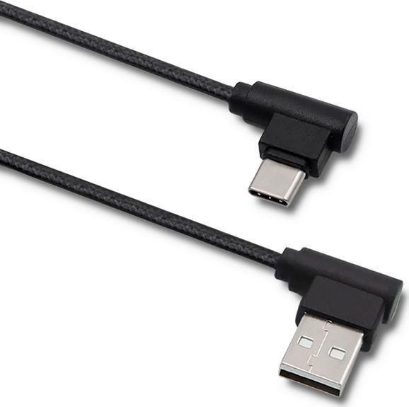 Kabel USB Qoltec Kabel USB typ C męski   USB 2.0 A męski   1m 1