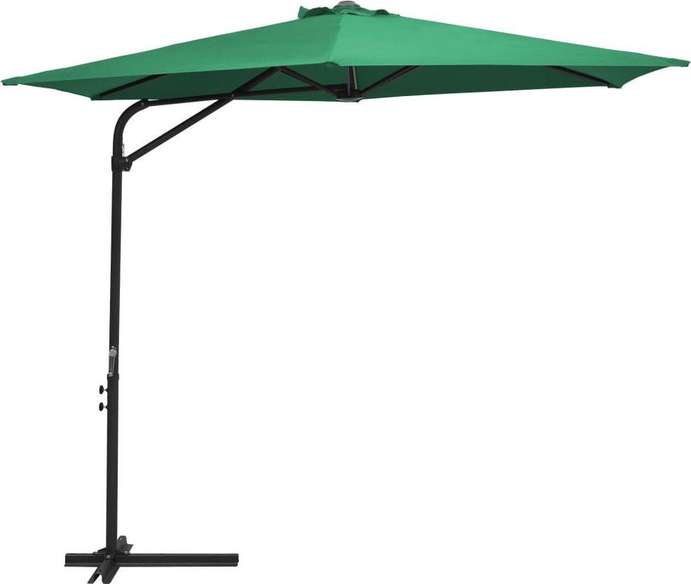 vidaXL Parasol ogrodowy na stalowym słupku, 300 cm, zielony 1