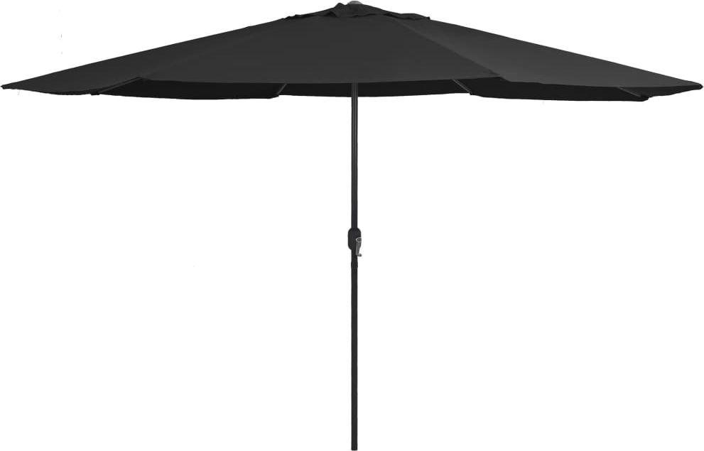vidaXL Parasol ogrodowy na metalowym słupku, 400 cm, czarny 1
