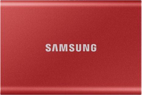 Dysk zewnętrzny Samsung SSD T7 Portable 1 TB Czerwony (MU-PC1T0R/WW) 1