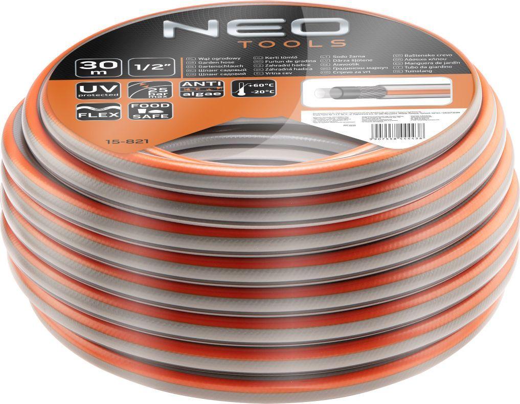 """NEO wąż ogrodowy 1/2"""" x 30 m, 4-warstwowy OPTIMA (15-821) 1"""