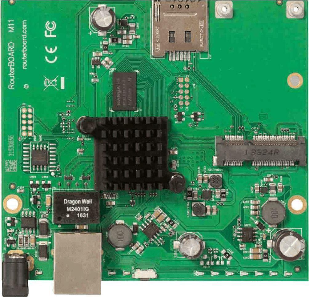 MikroTik MIKROTIK RBM11G ROUTERBOARD 2X CPU CORE, 880MHZ, 256MB, 1XGE, 1XMINIPCI-E, LICENCE LEVEL 4 1