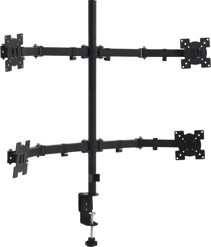 "vidaXL Uchwyt biurkowy na 4 monitory 13"" - 27"" (51070) 1"