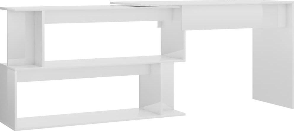 Biurko vidaXL narożne o wysokim połysku 200x50x76 1