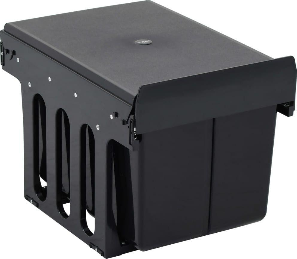 Kosz na śmieci vidaXL szafkowy 36L czarny (51179) 1